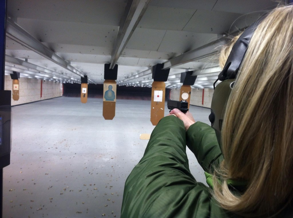 New to firearms, our student working for figure out if this handgun works for her shooting preferences