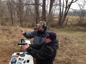 Instructor Sean evaluates a Students performance with a multiple firearms rented, shooting in Northern Virginia