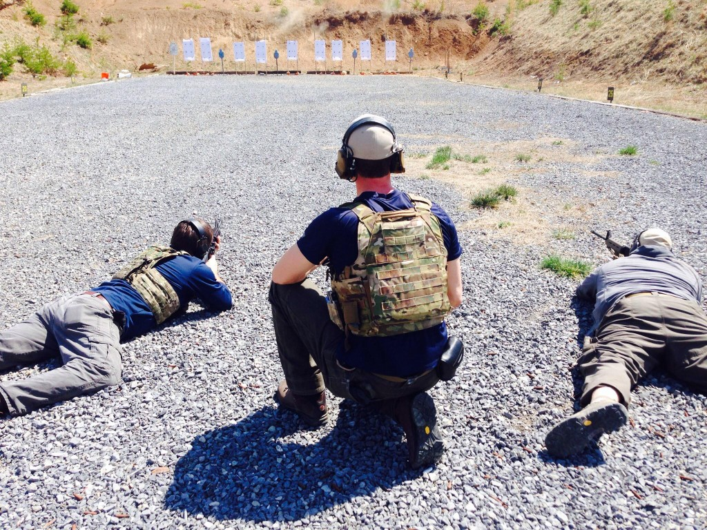 Instructor Sean shooting Rifles